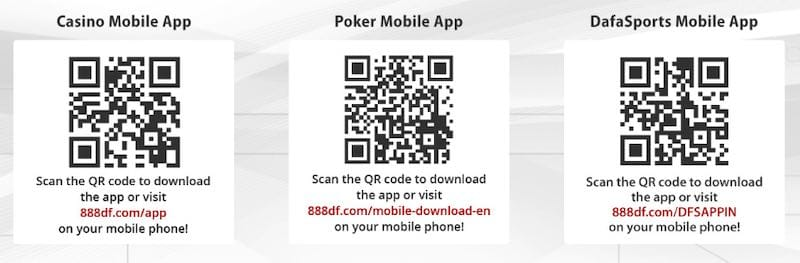 Dafabet QR Codes for Android