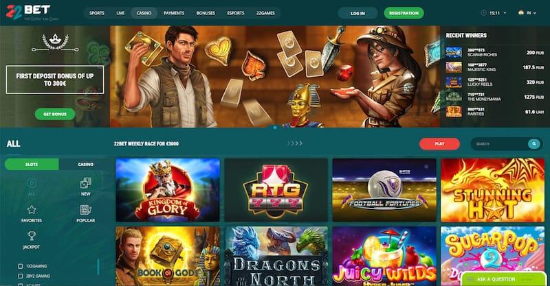 22Bet Casino Games
