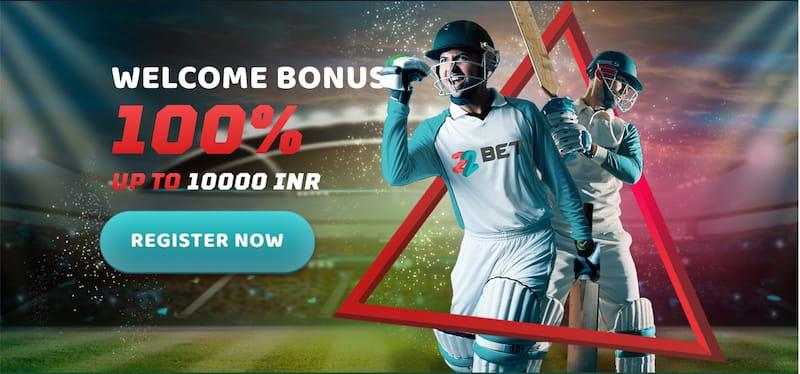 22Bet Sportsbooks Bonus 100% up to INR 10000
