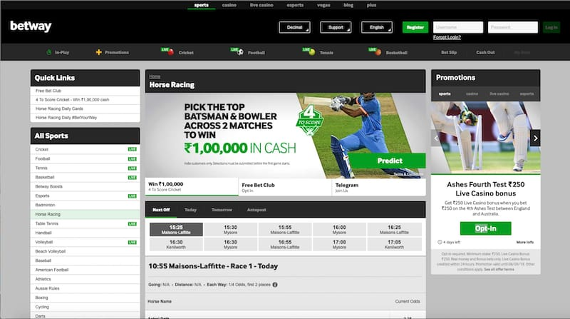 Betway India Review