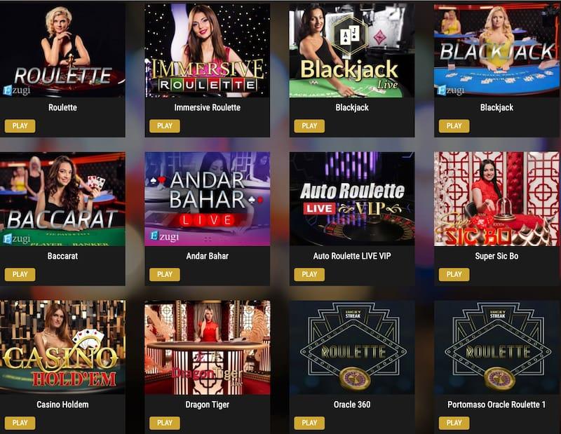 ShowLion Live Casino Games