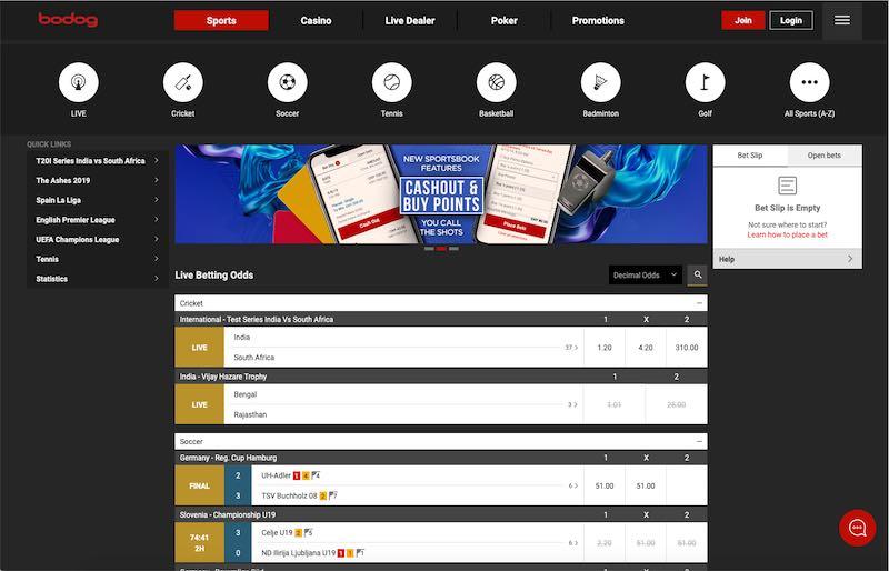 Bodog India Sports Betting