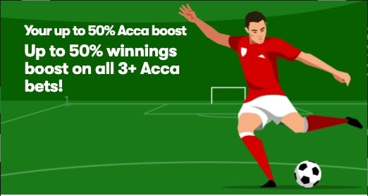 10Bet Acca Boost - Up To 50%