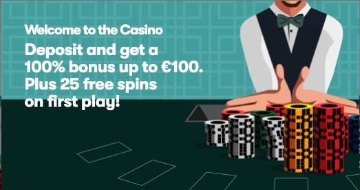 10Bet Casino Welcome Bonus - Get 100% up to 100€