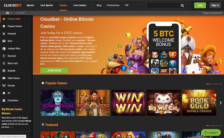 Cloudbet Casino Games