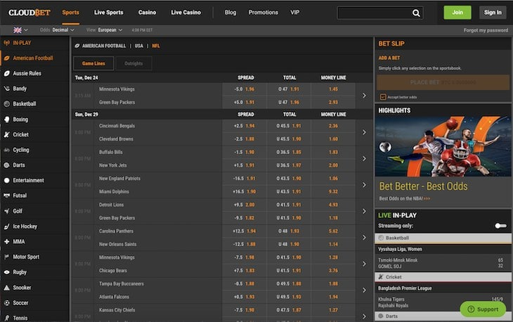 Cloudbet Sports Betting