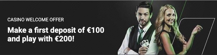 Unibet Casino Welcome Bonus