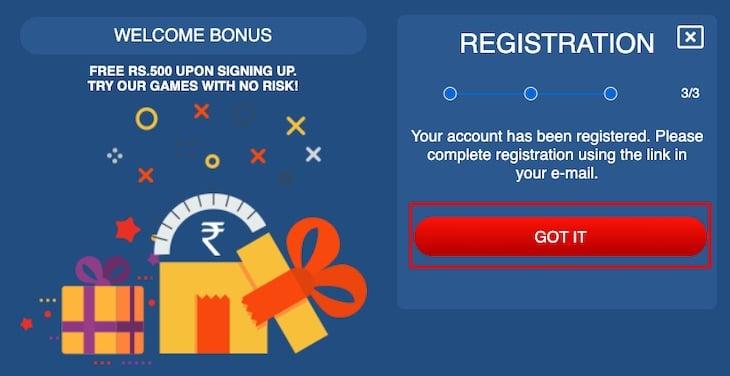 How to register Jungleraja step 3