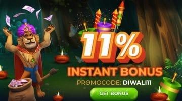 Get 11% Bonus on all deposits on JungleRaja this November