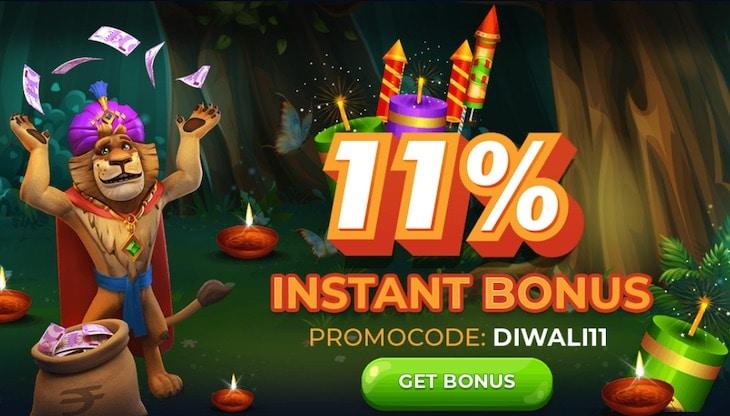 11% Bonus on all deposits on JungleRaja
