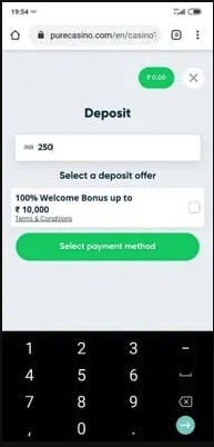 Deposit Money on Casinos Sites with Paytm Step 2