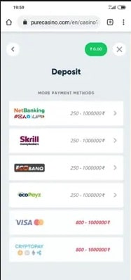 Deposit Money on Casinos Sites with Paytm Step 3