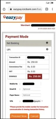 Deposit Money on Casinos Sites with Paytm Step 5