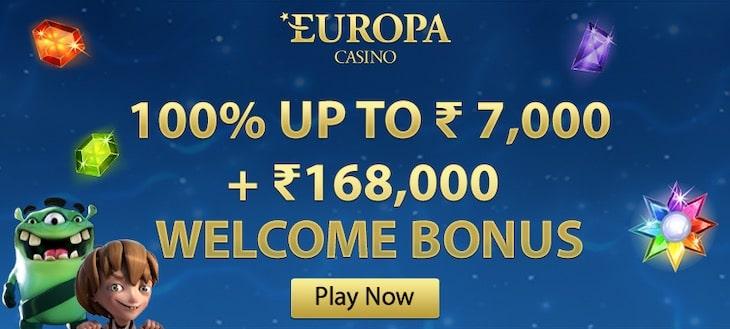 Europa Casino Welcome Bonus