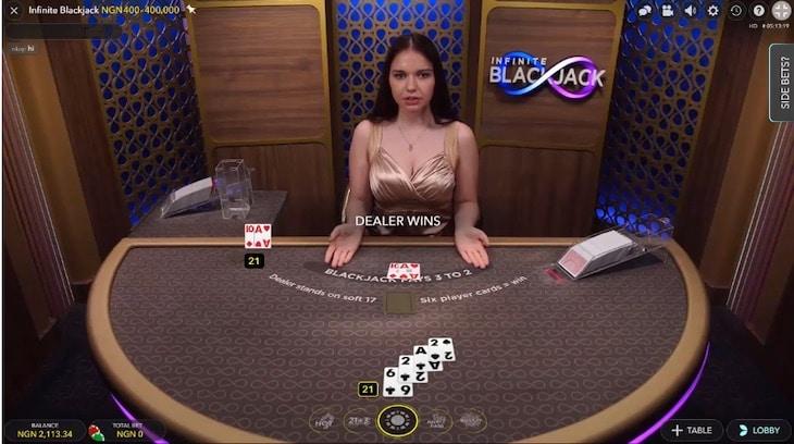 how to play infinite blackjack step 4