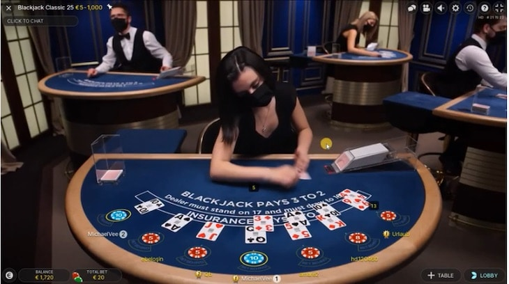 How to play live speed blackjack step 2