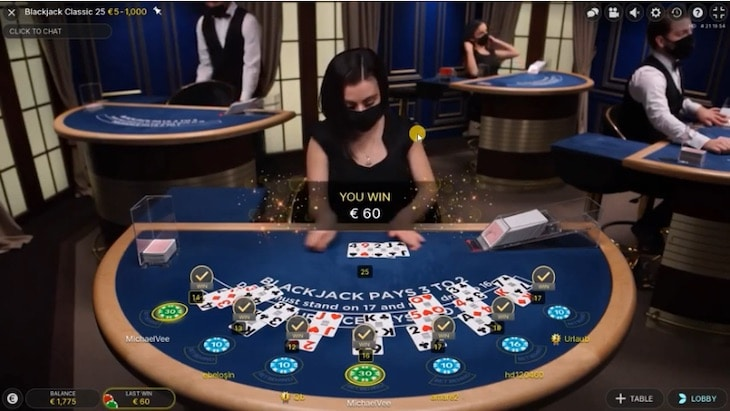 How to play live speed blackjack step 4