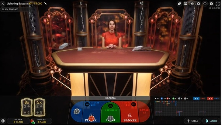 how to play lightning baccarat step 2