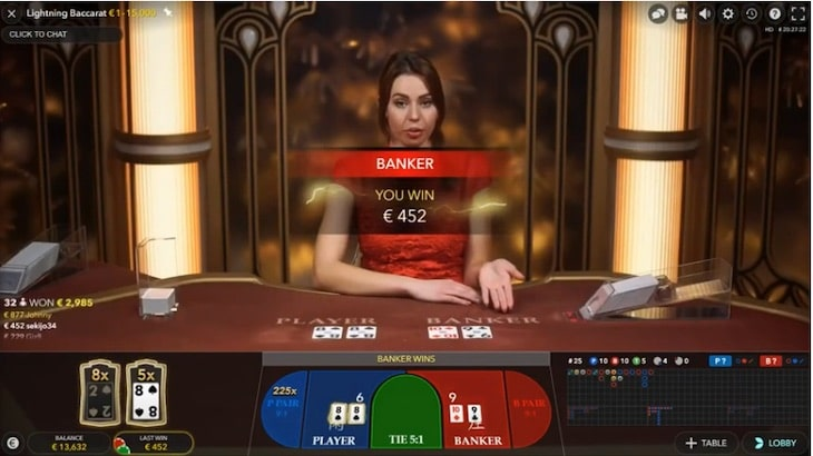 how to play lightning baccarat step 4