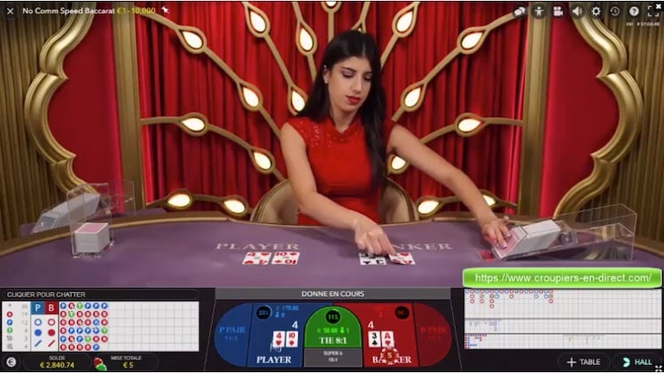 How to play No Commission Baccarat step 2