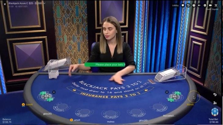 how to play blackjack azure step 1