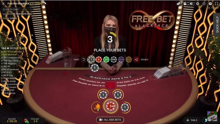 How to play free bet blackjack step 1