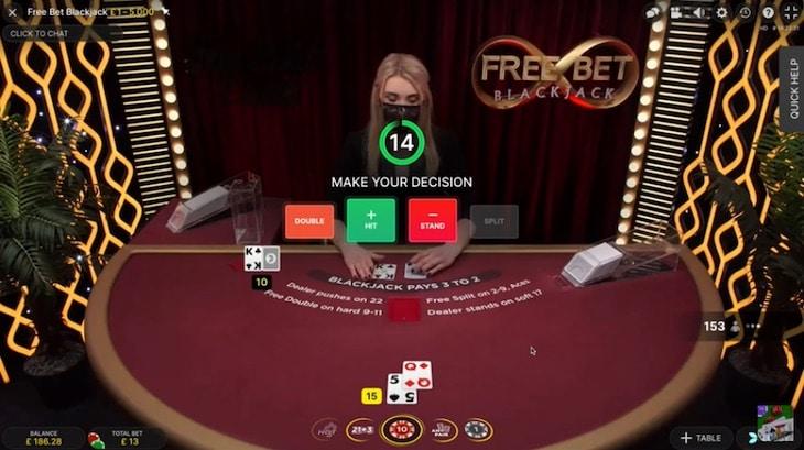 How to play free bet blackjack step 2