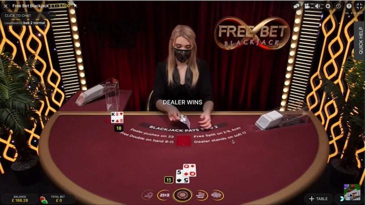 How to play free bet blackjack step 3